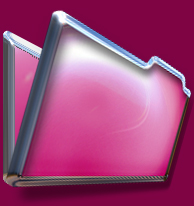 Chrome and Pink Folder