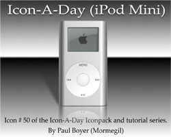 Icon-A-Day #50 (iPod Mini)