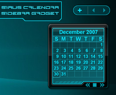 Sirus Sidebar Calendar