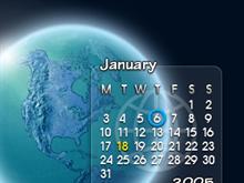 Glassy Calendar