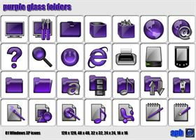 Purple Glass Folders