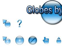 Globes by Jim - Blue