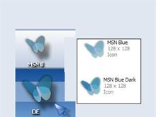 Blue MSN icon
