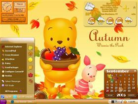 Autumn Pooh & Piglet