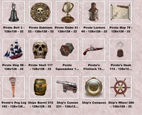 Pirate Pack 1 Dock Icons