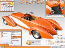 Orange Deco Rides Boattail Speedster