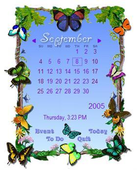 Butterflies Rainlendar