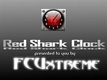 Red Shark Clock