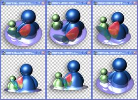 Metallic Msn Icons