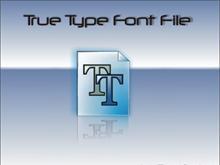 True Type Font File