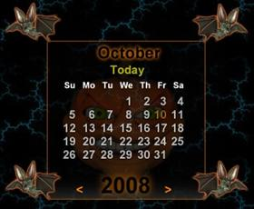 Spook Time Calendar