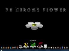 3D Chrome Flower