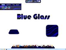 Blue Glass Dock Background Set