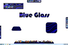 Blue Glass Dock Background Set