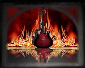 Flamin' Guitar Reflection