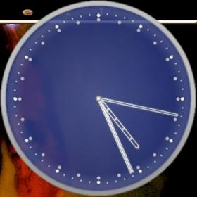 Cobalt Blue Clock (Analog