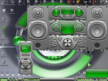Green _silver style screen