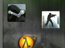 Cryo64 Steam, Half-Life 2 and Counter Strike Icons