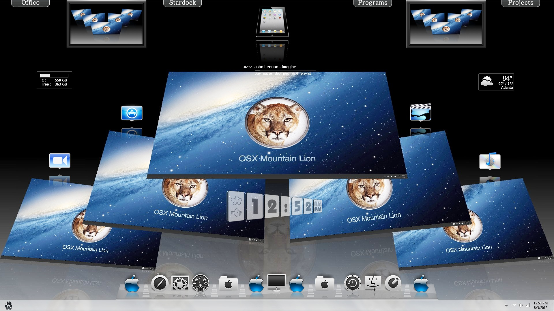 Mac OS X Mtn Lion 3D