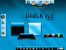 Black Ice Dock Backgrounds