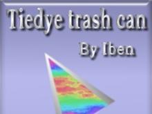 Tiedye trash can