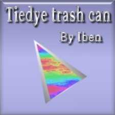 Tiedye trash can