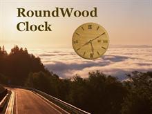 RoundWood clock