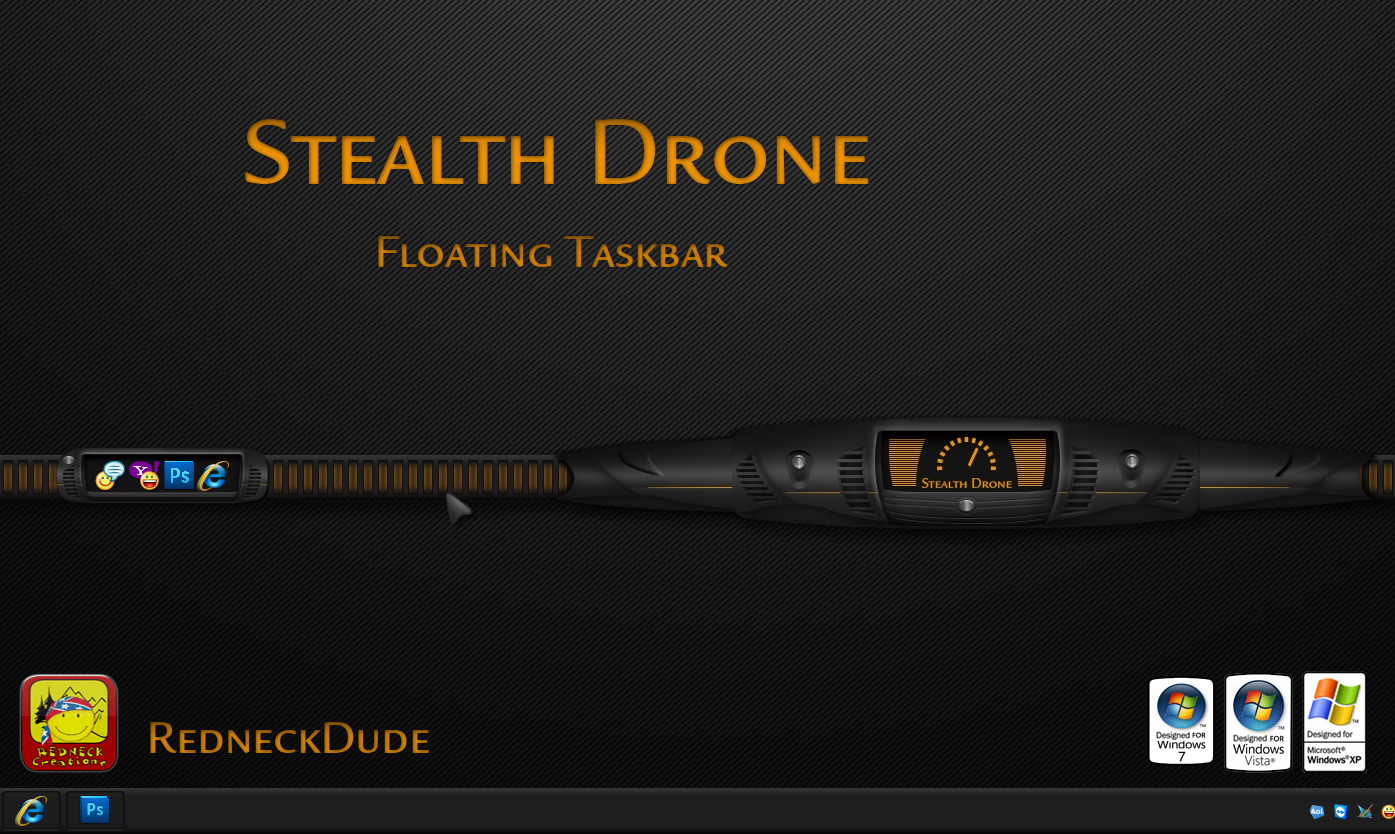 Stealth Drone Floating Taskbar