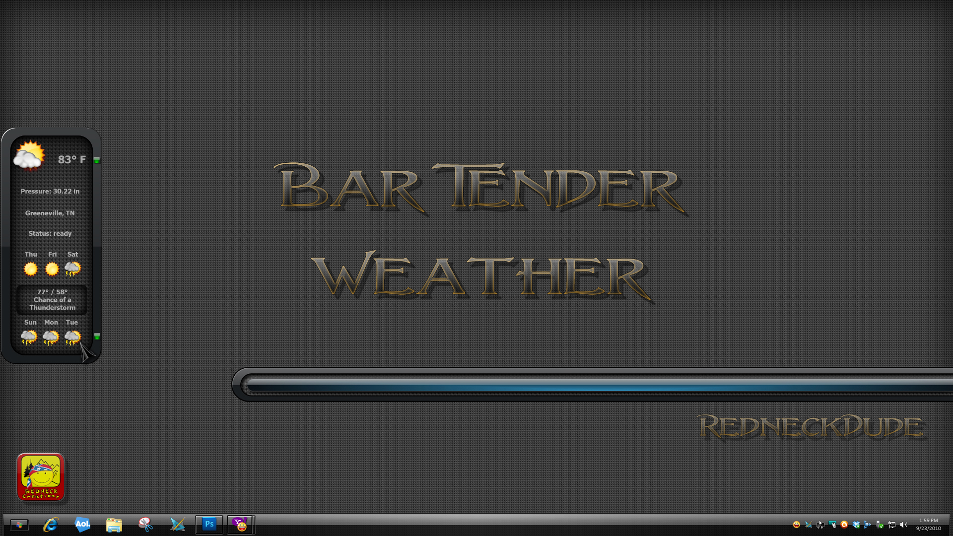 Bar Tender Weather Dock