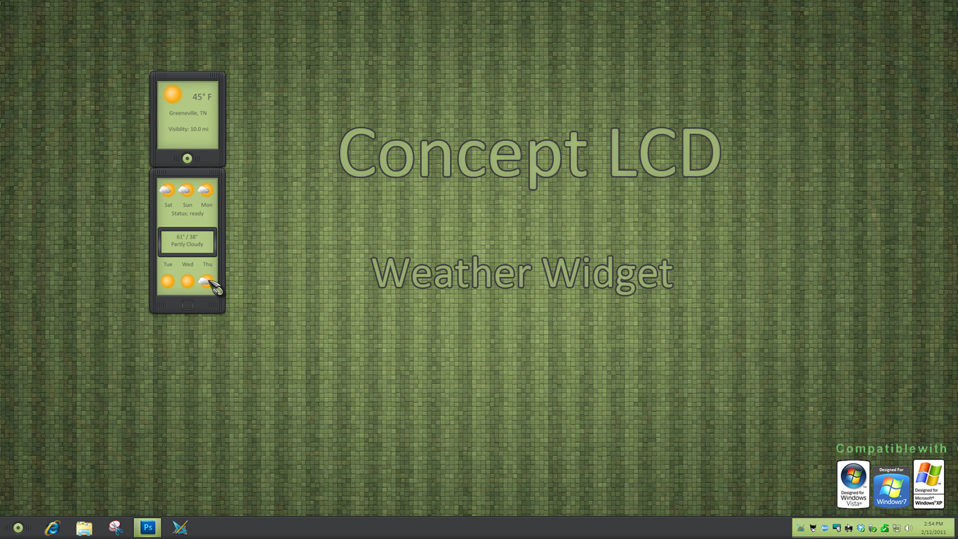 Concept LCD Weather Widget