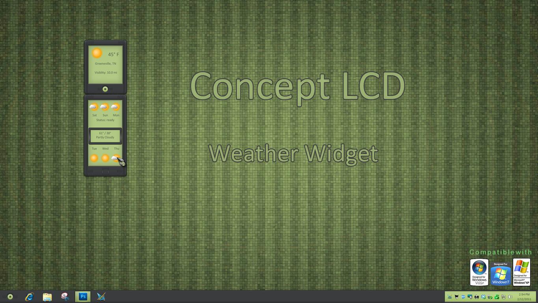 Concept LCD Weather Widget