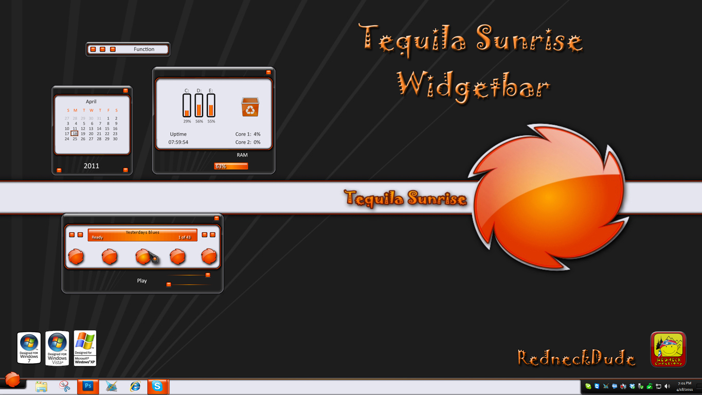 Tequila Sunrise Widgetbar