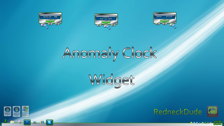 Anomaly Clock Widget