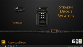 Stealth Drone Weather Widget