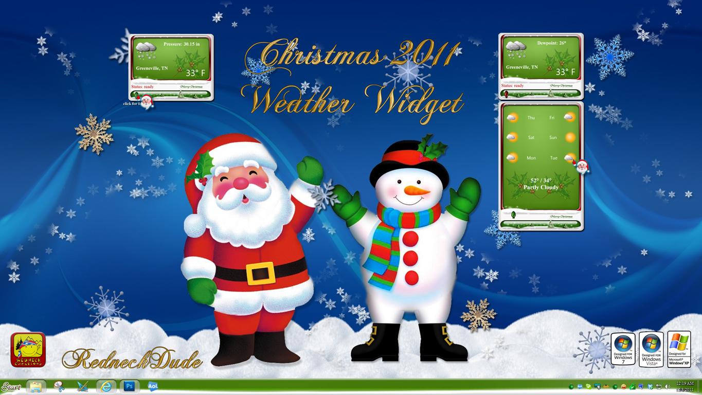 Christmas 2011 Weather Widget