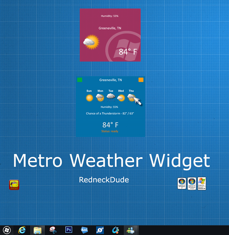 Metro Weather Widget