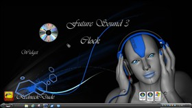 Future Sound 3 Clock Widget