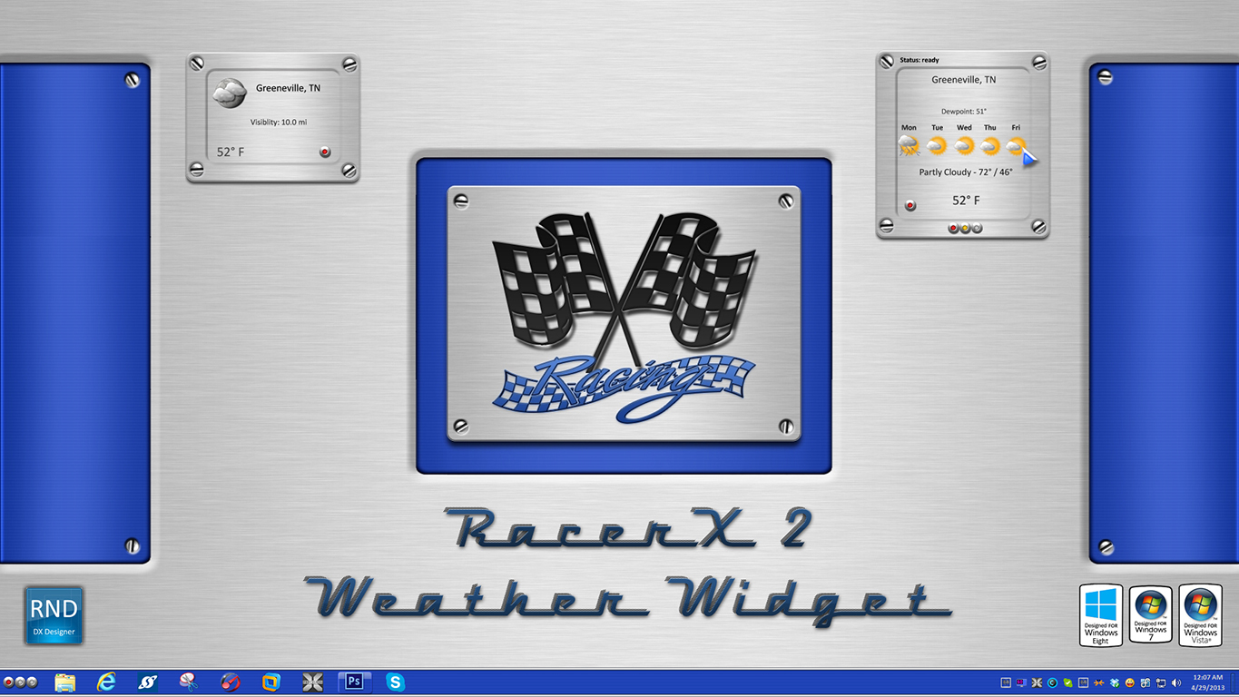 RacerX2 Weather Widget