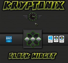Kryptonix Clock Widget