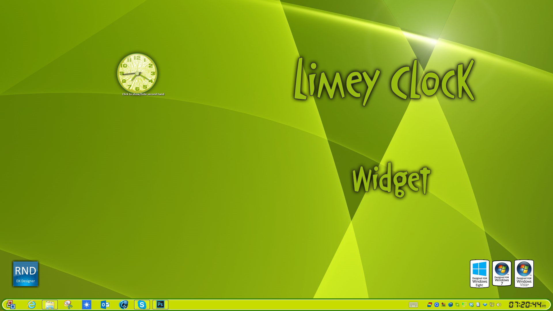 Limey Clock Widget