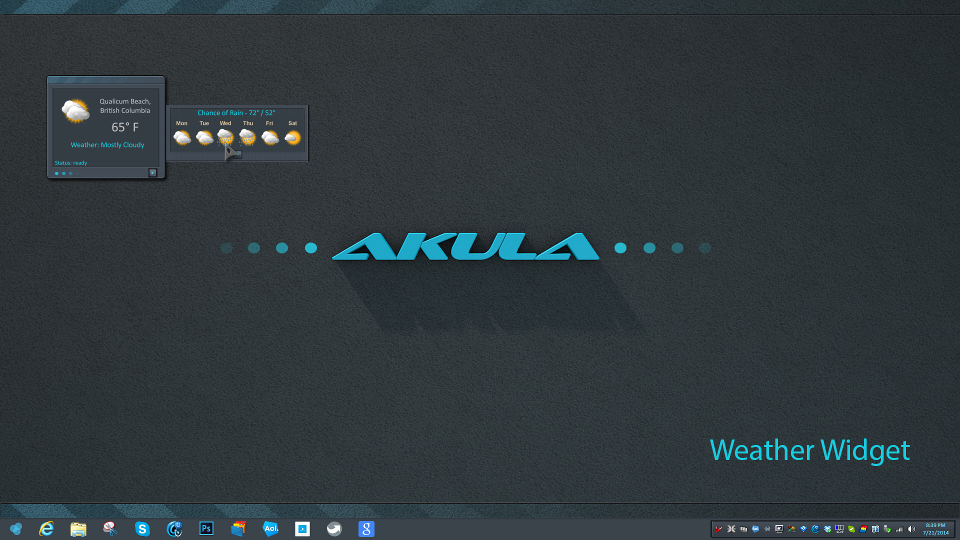 Akula Weather Widget