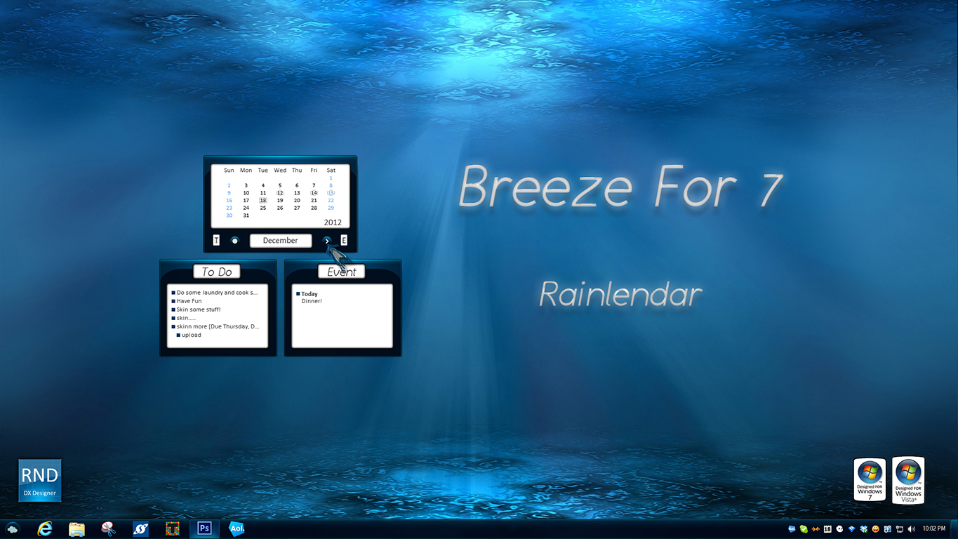Breeze For 7 Rainlendar