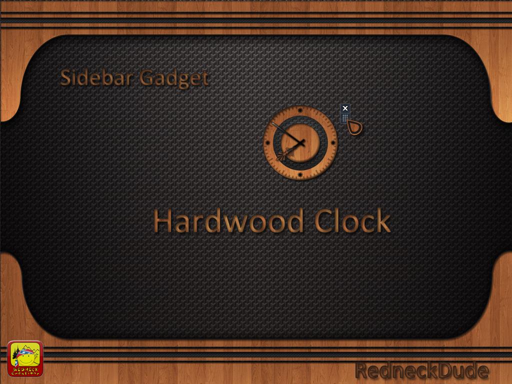 Hardwood Sidebar Clock