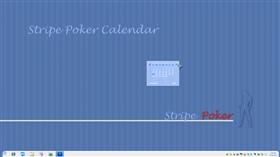 Stripe Poker Calendar Gadget