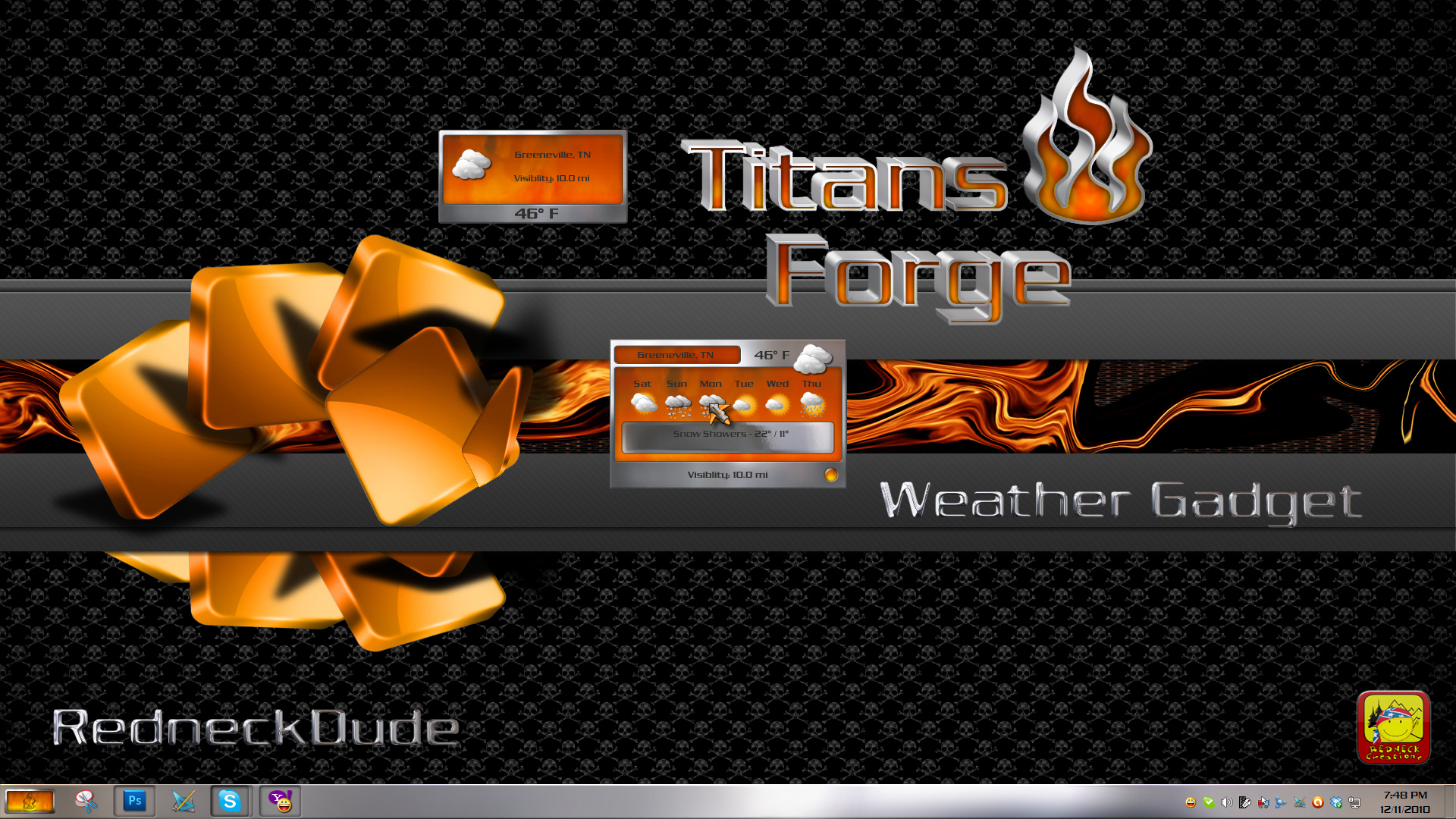 Titan's Forge Weather Gadget
