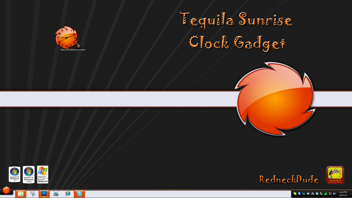 Tequila Sunrise Clock Gadget