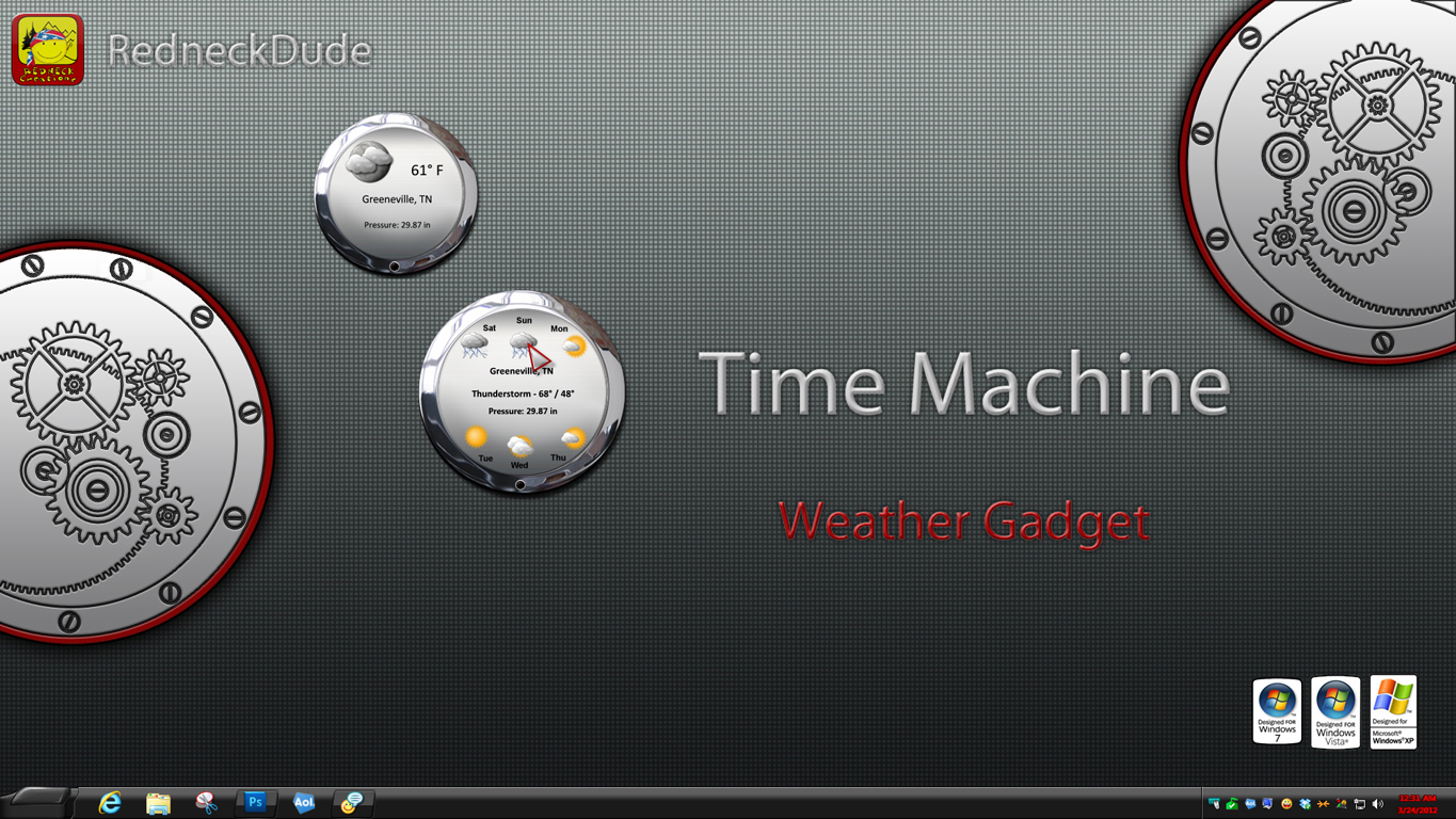 Time Machine Weather Gadget