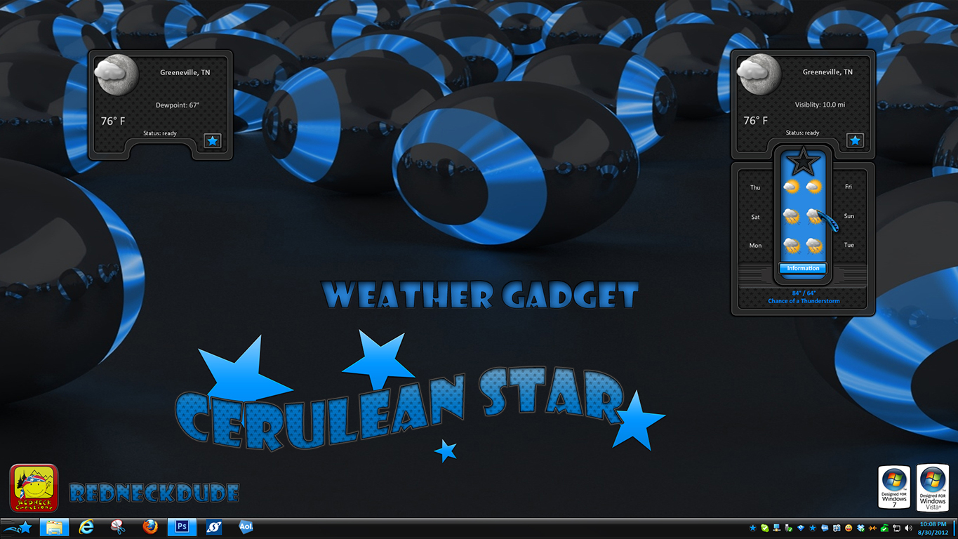 Cerulean Star Weather Gadget