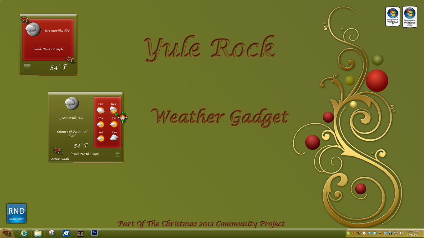 Yule Rock Weather Gadget