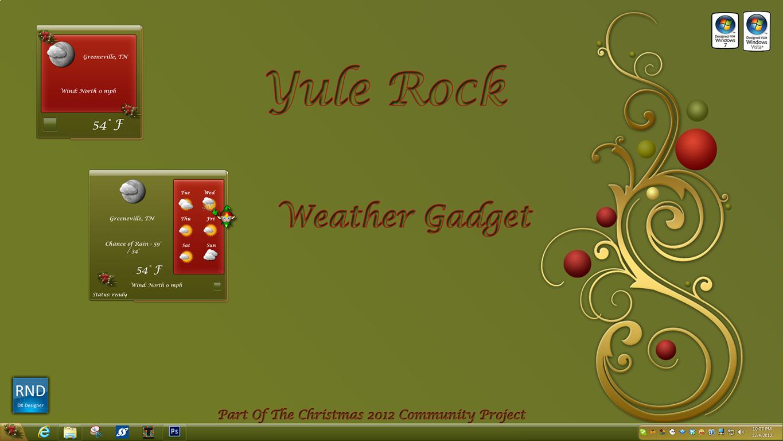 Yule Rock Weather Gadget